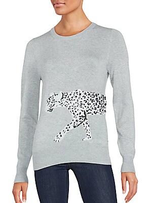 Sequin Leopard Sweater