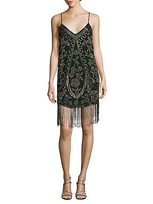 Spaghetti Strap Embellished Dress