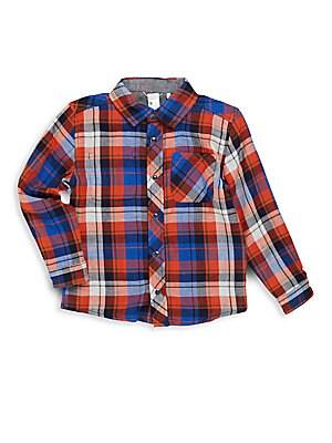 Little Boy's Plaid Cotton Shirt