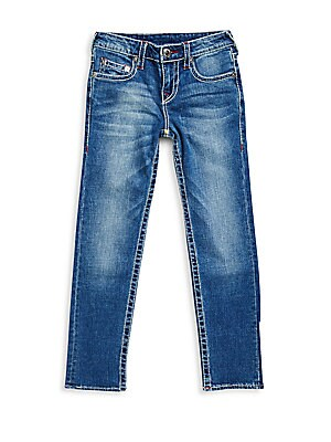 Boy's Slim-Fit Whiskered Jeans