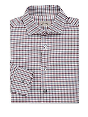Contrasting Striped Cotton Sportshirt