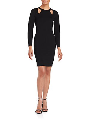 Crew Neckline Long Sleeve Dress