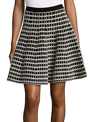 Saks Fifth Avenue Plaid Flared Skirt | Clothing