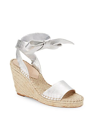 Ankle-Wrap Open-Toe Wedge Sandals