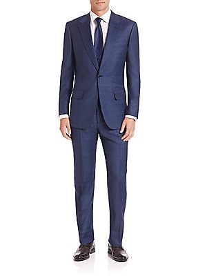 Two-Button Micro Check Suit