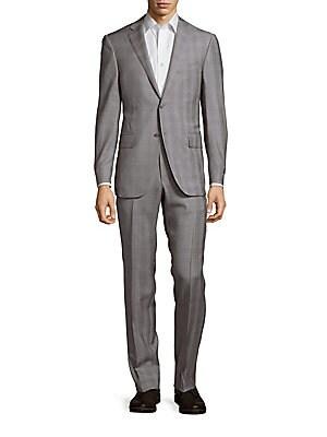 Plaid Virgin Wool Jacket & Pants Suit