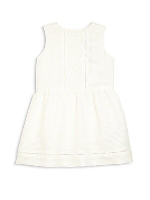 Baby's & Toddler's Mulberry Silk Blend Lace Dress