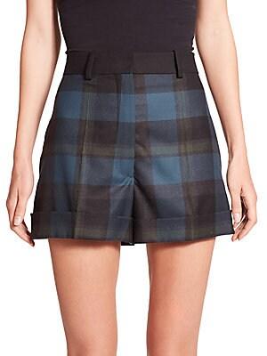Check Wool Shorts