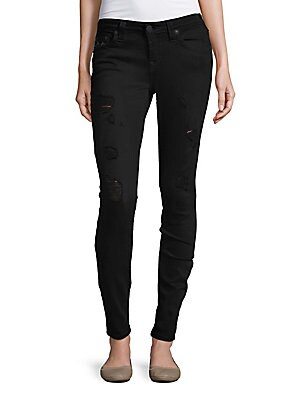 Distressed Skinny-Fit Jeans