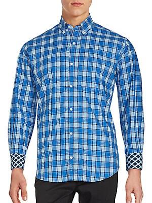 Long Sleeve Cotton Check Shirt