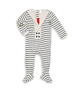 Baby's Striped Cotton Footie