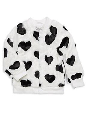 Faux Fur Heart Jacket