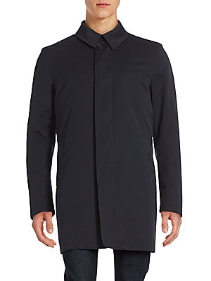 Solid Point Collar Raincoat