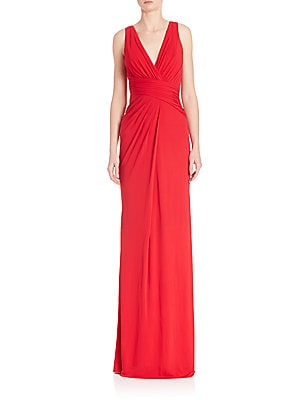 Ruched Bodice Jersey Gown