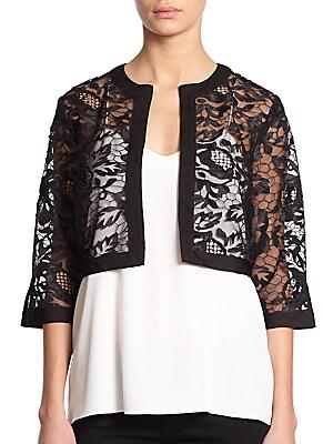 Embroidered Lace Bolero Jacket