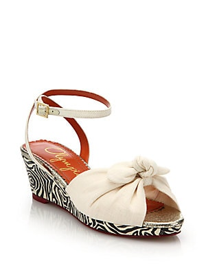 Alexa Zebra-Print Wedge Sandals