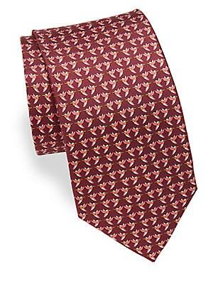 Ziguli Hummingbird Print Silk Tie
