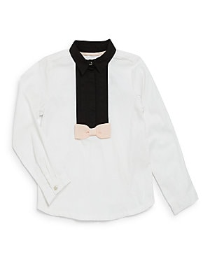 Boy's Long Sleeve Tuxedo Shirt