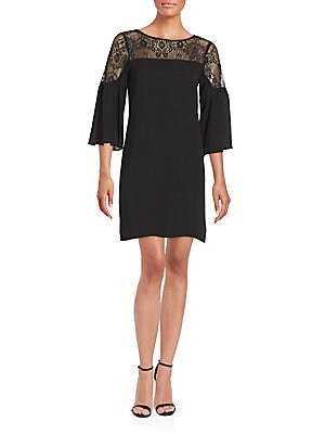 Larissa Lace-Trim Shift Dress