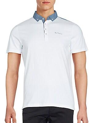 Button-Down Cotton Polo