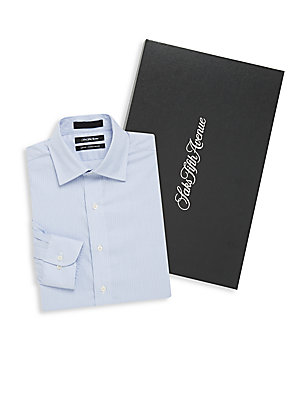 Slim-Fit Stripe Dress Shirt
