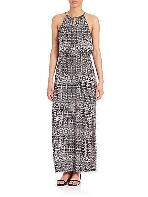Quinette Printed Maxi Dress