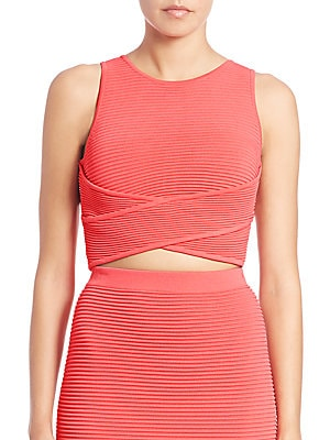 Crisscross-Front Cropped Top