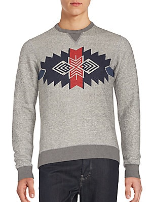 Heathered Cotton Graphic Sweatshirt