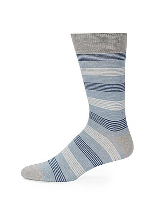 Saks Fifth Avenue Classic Striped Cotton Blend Socks | Underwear, Hosiery, Footwear and Clothing
