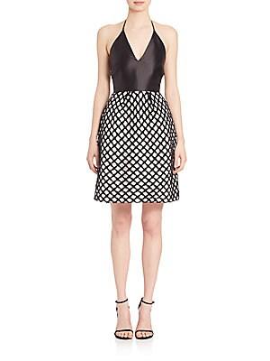 Satin Halter Lace Novelty Dress