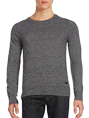 Roundneck Marled Cashmere Sweater