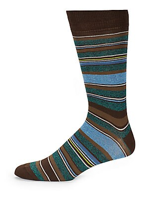 Color Popped Stripe Socks
