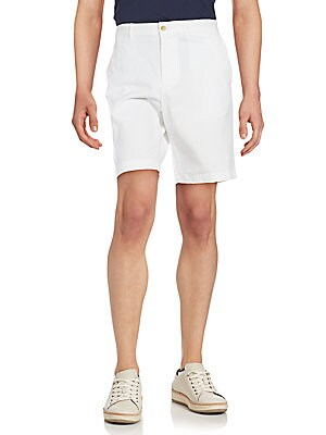 michael kors male solid cotton stretch shorts