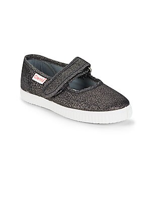 Girl's Textured Mary Janes