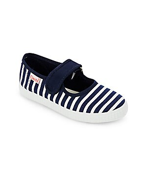 Girl's Round Toe Striped Mary Janes