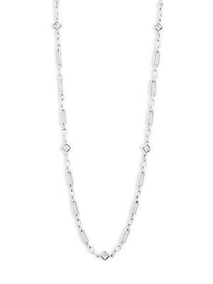 Diamond & 14K White Gold Necklace