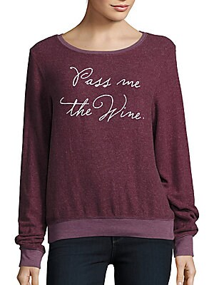 Pass the Wine Long Sleeve Pullover