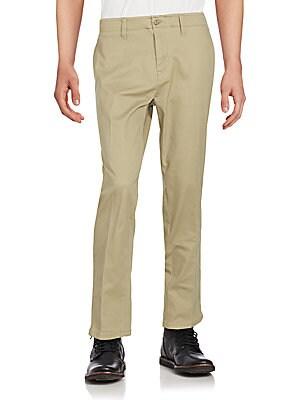 Cotton Blend Stretch Pants