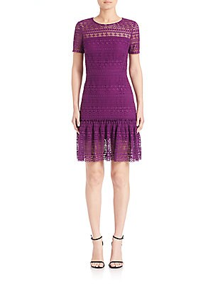 Jacey Fit-and-Flare Lace Dress