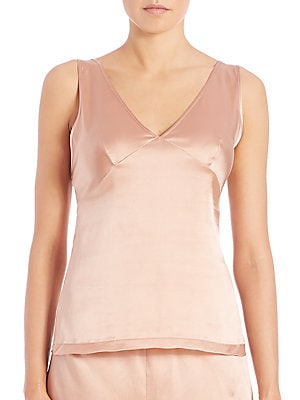 Stretch Silk Charmeuse Camisole