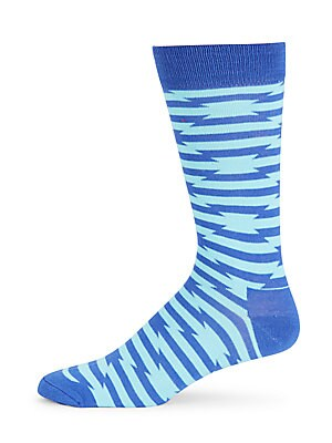 Crew Patterned Cotton-Blend Mid-Calf Socks