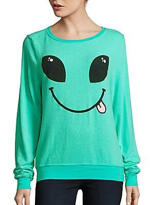 Textured Graphic Sweatshirt