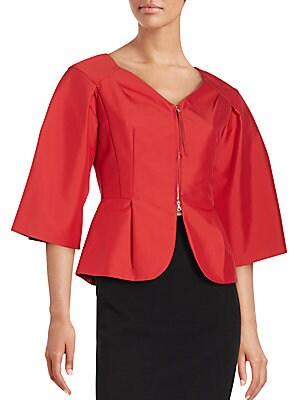 Pleated Kimono Sleeve Jacket
