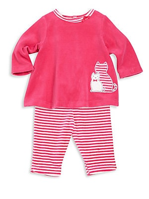 Baby Girl's Two-Piece Top & Pants Set