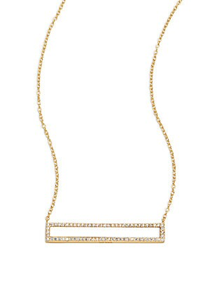 Cubic Zirconia & 18K Gold-Plated Sterling Silver Pendant Necklace