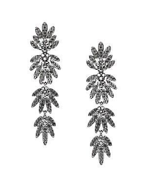 Crystal Drop Earrings- 3in