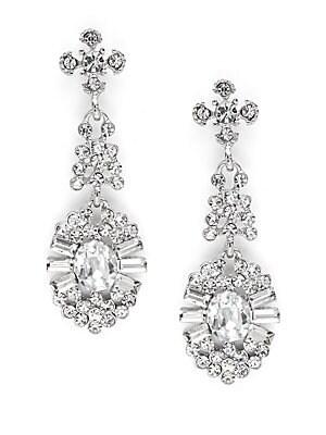 Crystal Drop Earrings- 2in