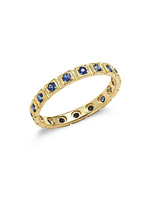 Blue Sapphire in 14KT Yellow Gold Freemont Ring