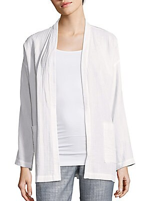 Cotton Open-Front Jacket