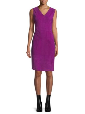 Annmarie Suede Stitched Dress